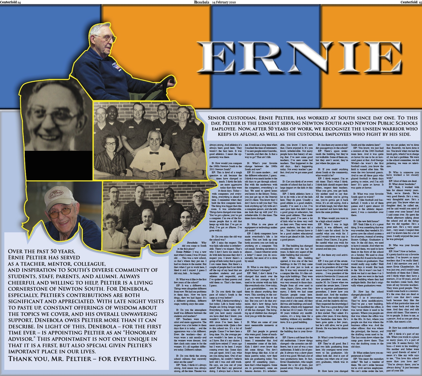 50th Sports Centerfold (Ernie)